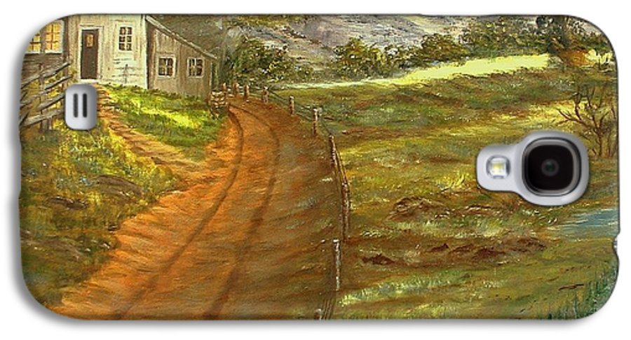 Landscape Galaxy S4 Case featuring the painting Peaceful Country by Kenneth LePoidevin