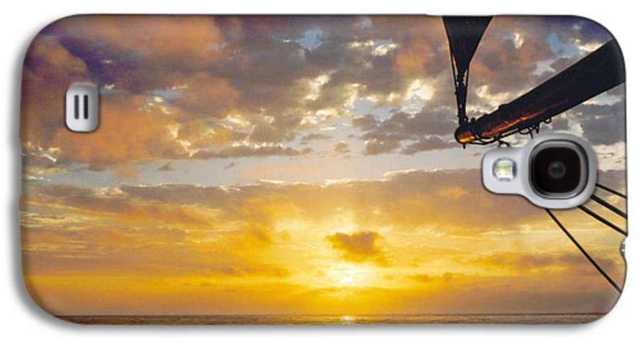 Sunset Galaxy S4 Case featuring the photograph Peaceful Sailing by Kathy Schumann