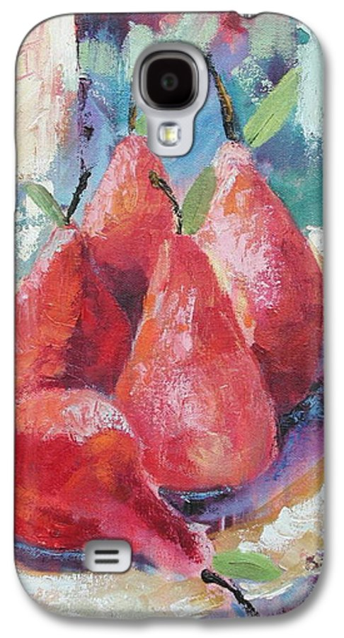 Pears Galaxy S4 Case featuring the painting Pears by Ginger Concepcion