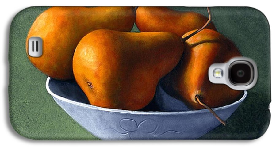Still Life Galaxy S4 Case featuring the painting Pears In Blue Bowl by Frank Wilson