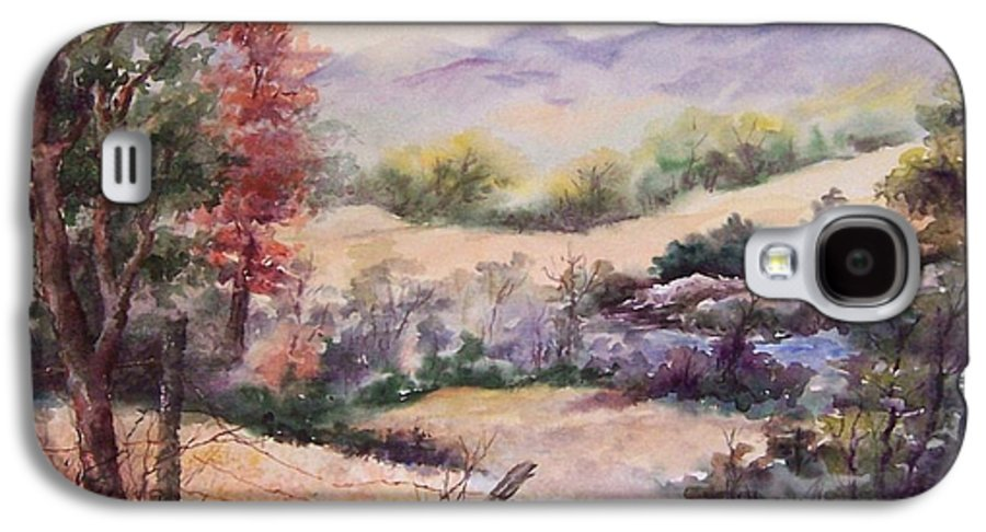 Fall Galaxy S4 Case featuring the painting Pee Dee Creek by Virginia Potter