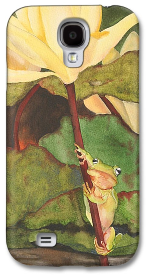 Frog Galaxy S4 Case featuring the painting Peeping Tom by Jean Blackmer