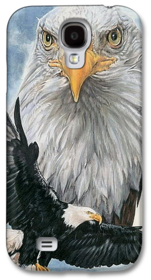 Bald Eagle Galaxy S4 Case featuring the mixed media Peerless by Barbara Keith