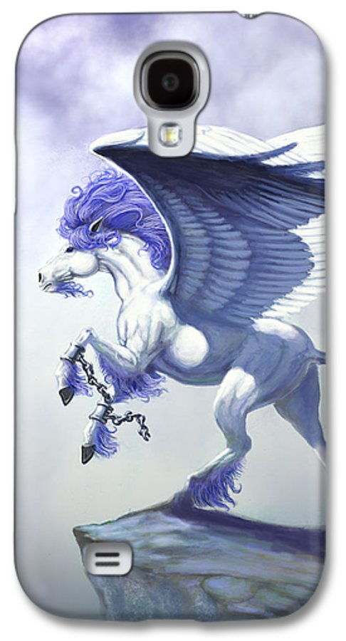 Pegasus.fantasy Galaxy S4 Case featuring the digital art Pegasus Unchained by Stanley Morrison