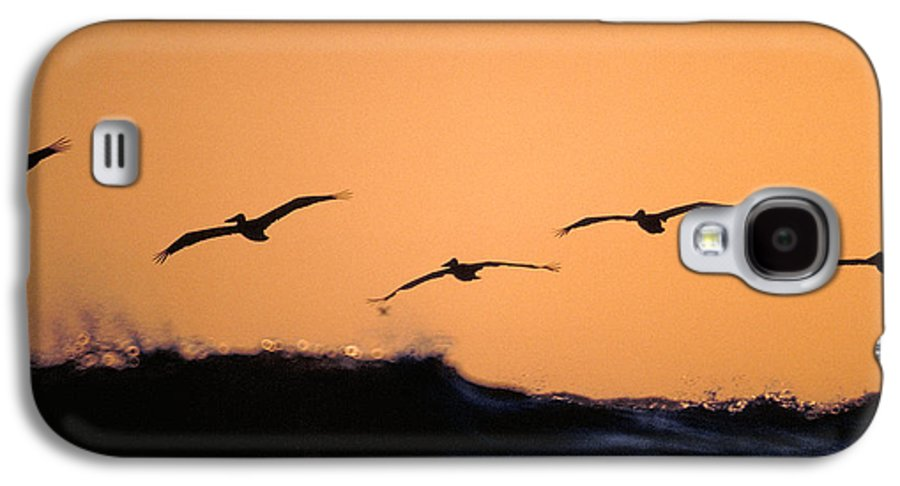 Pelicans Galaxy S4 Case featuring the photograph Pelicans Over The Pacific by Michael Mogensen