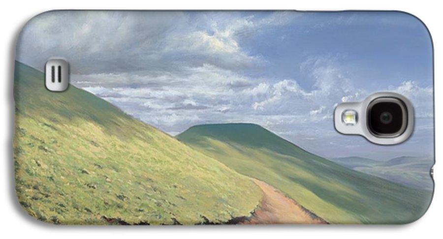 Pen Y Fan Galaxy S4 Case featuring the painting Pen Y Fan by Richard Picton