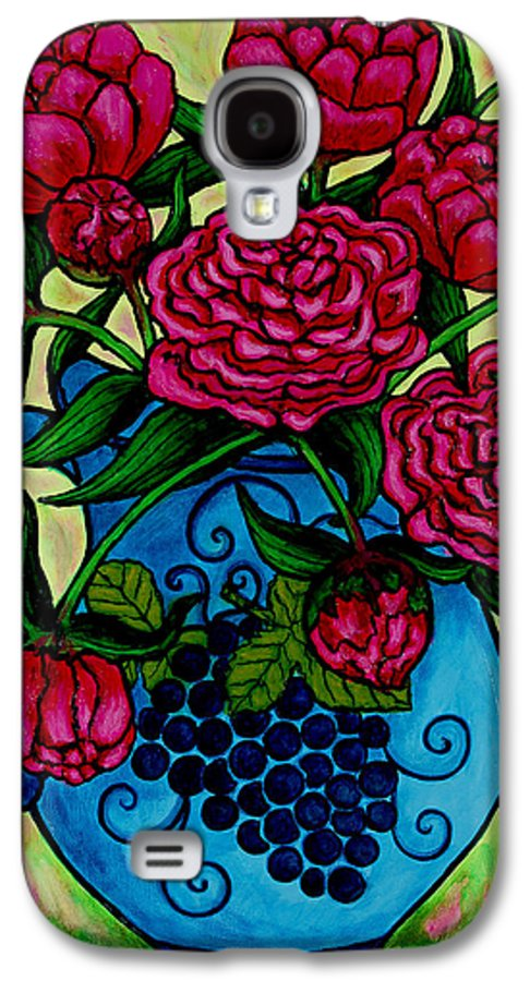 Peonies Galaxy S4 Case featuring the painting Peony Party by Lisa Lorenz