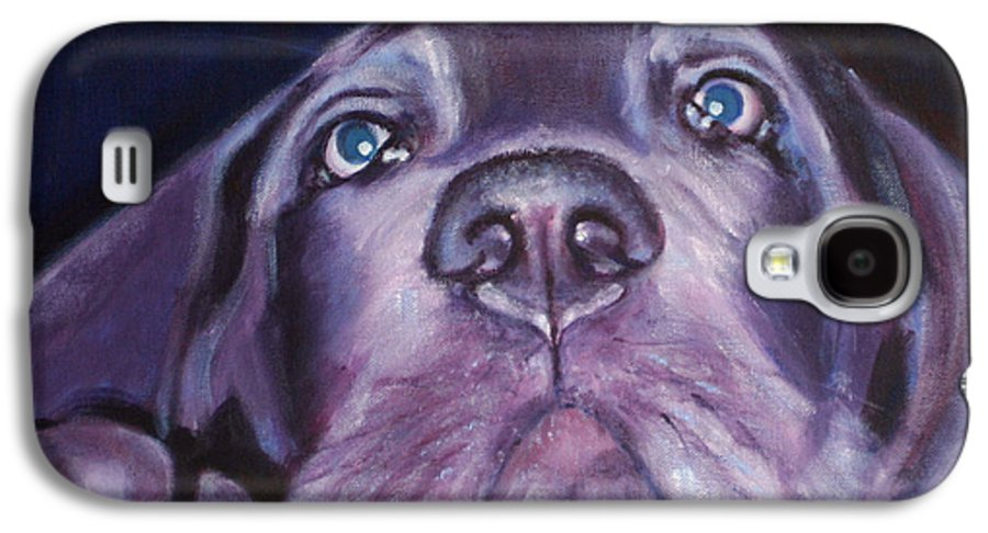 Portrait Galaxy S4 Case featuring the painting Pepper by Fiona Jack