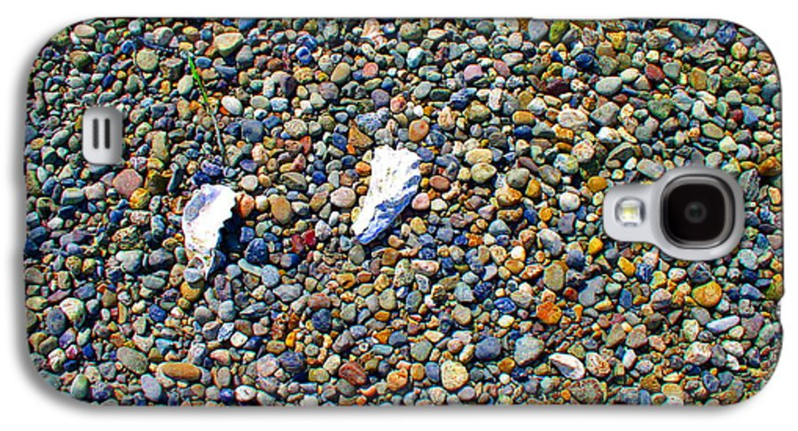 Beach Galaxy S4 Case featuring the photograph Pepples On The Beach by Valerie Josi