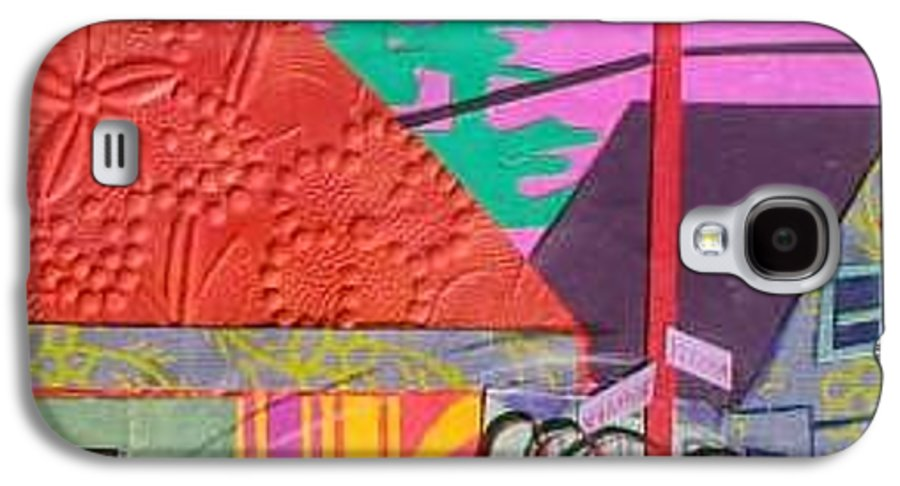 City Galaxy S4 Case featuring the mixed media Perham Street by Debra Bretton Robinson
