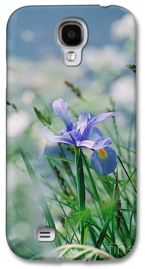 Periwinkle Galaxy S4 Case featuring the photograph Periwinkle Iris by Nadine Rippelmeyer