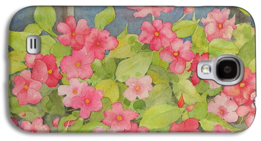 Flowers Galaxy S4 Case featuring the painting Perky by Mary Ellen Mueller Legault