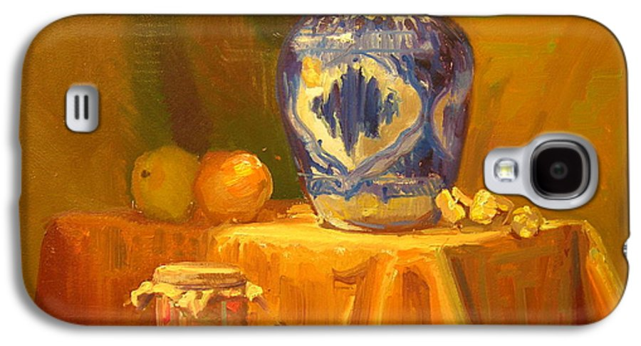 Still Life Galaxy S4 Case featuring the painting Persian Vase And Fruit Jar by David Dozier