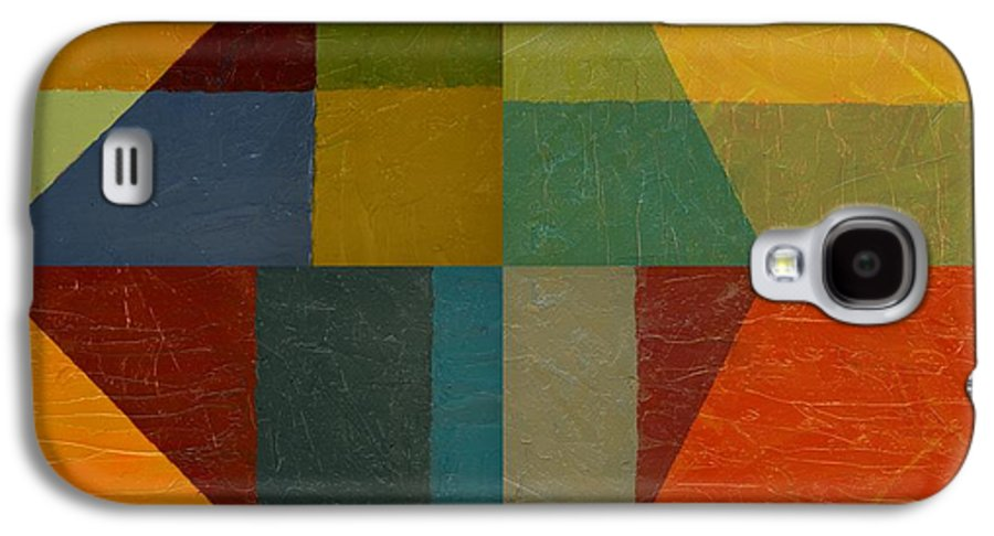 Abstract Galaxy S4 Case featuring the painting Perspective In Color Collage by Michelle Calkins