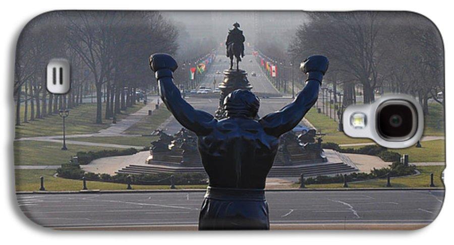 Philadelphia Champion - Rocky Galaxy S4 Case featuring the photograph Philadelphia Champion - Rocky by Bill Cannon
