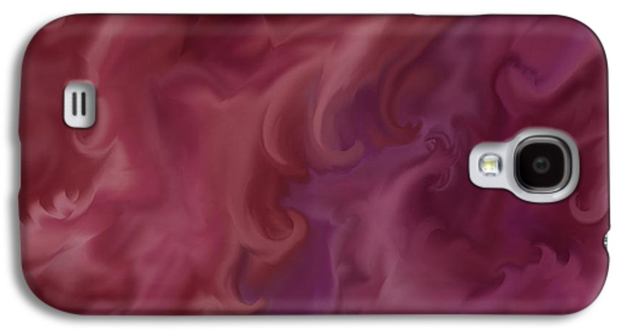 Fantasy Galaxy S4 Case featuring the painting Phoenix Rising by Anne Norskog