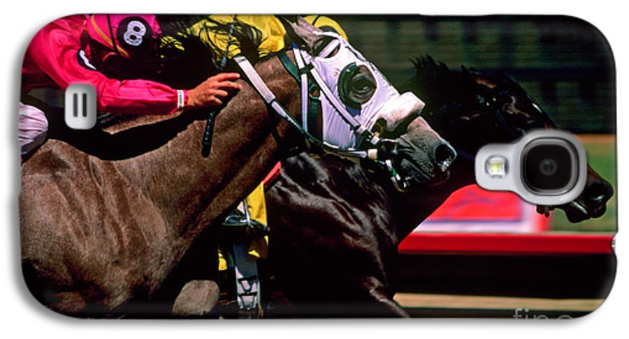 Horse Galaxy S4 Case featuring the photograph Photo Finish by Kathy McClure