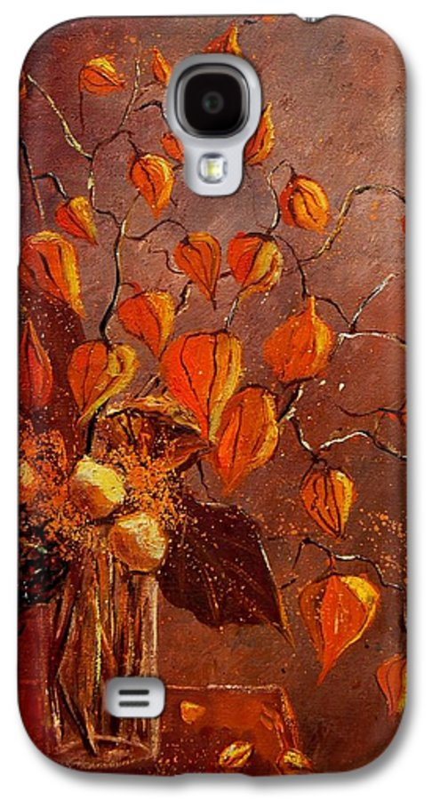 Poppies Galaxy S4 Case featuring the painting Physialis by Pol Ledent