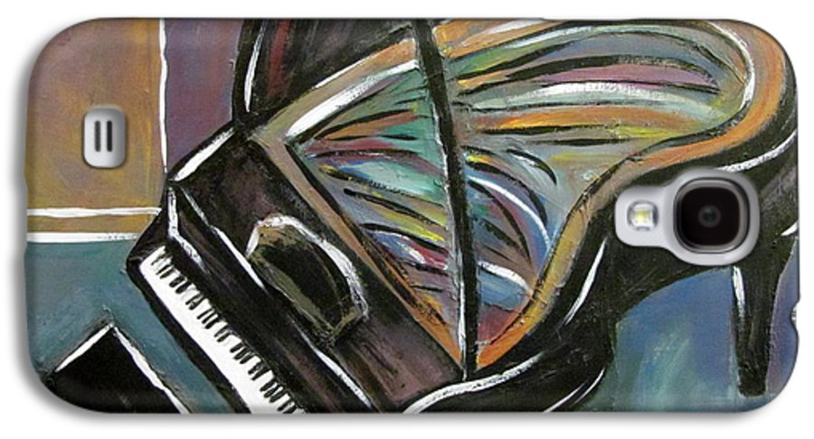 Impressionist Galaxy S4 Case featuring the painting Piano With High Heel by Anita Burgermeister