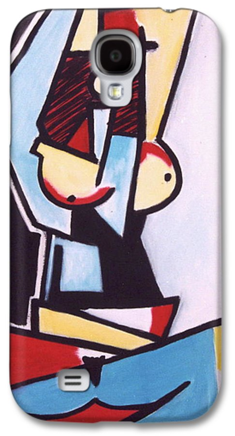 Picasso Galaxy S4 Case featuring the painting Picasso by Thomas Valentine