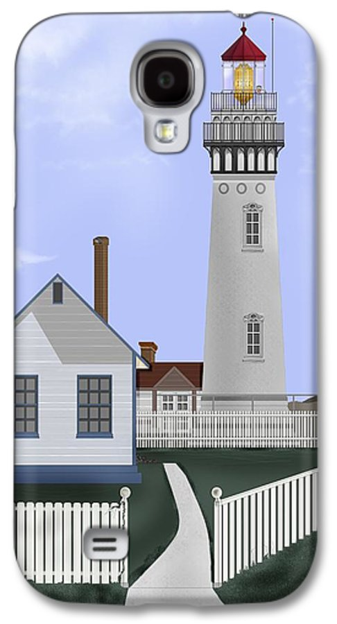 Lighthouse Galaxy S4 Case featuring the painting Pigeon Point Lighthouse California by Anne Norskog