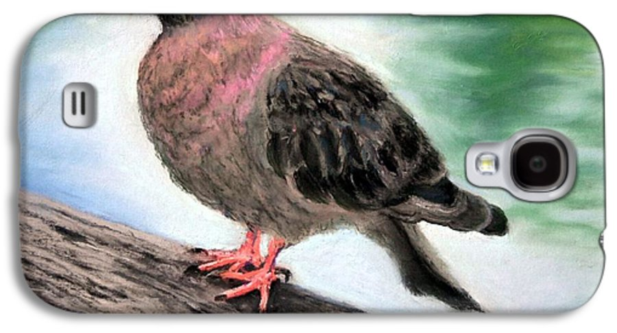 Pigeon Galaxy S4 Case featuring the painting Pigeon Toes by Minaz Jantz