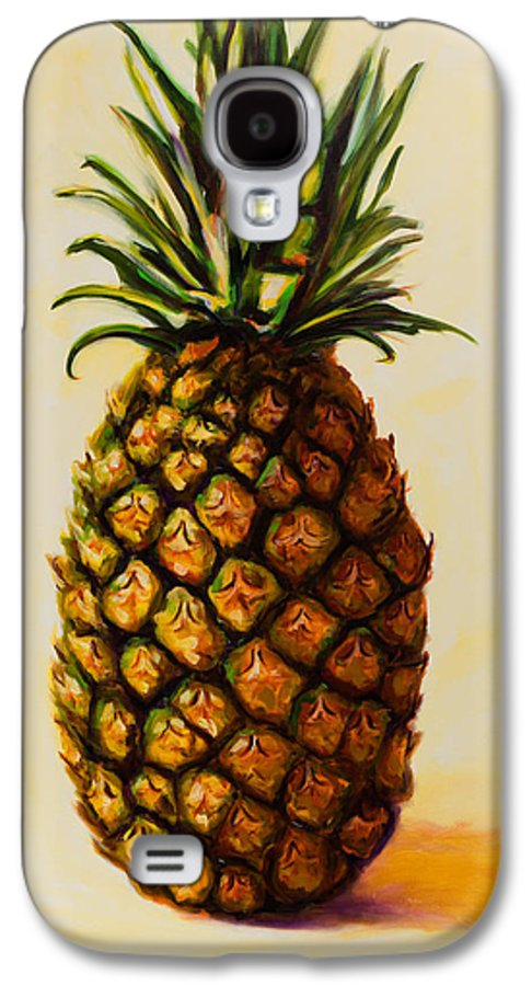Pineapple Galaxy S4 Case featuring the painting Pineapple Angel by Shannon Grissom