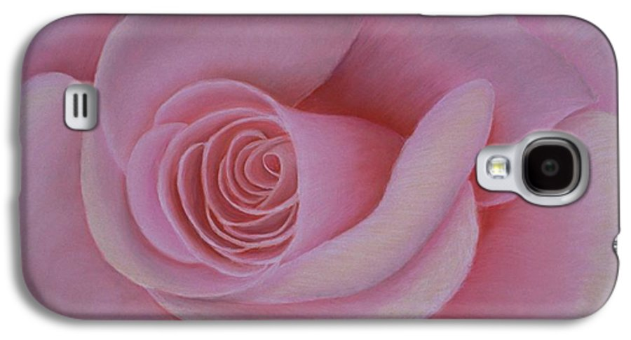 Rose Galaxy S4 Case featuring the painting Pink Blush by Mary Erbert