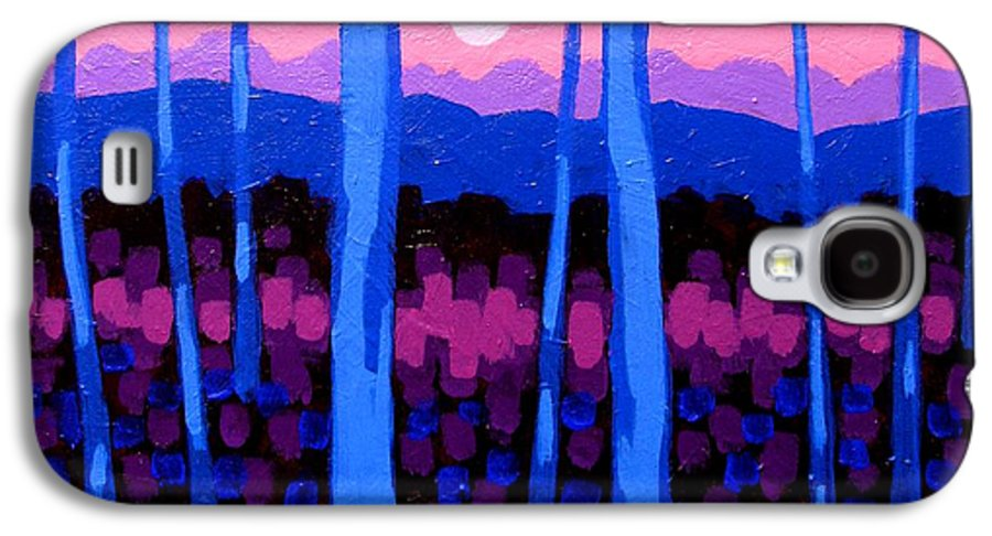 Landscape Galaxy S4 Case featuring the painting Pink Moon by John Nolan