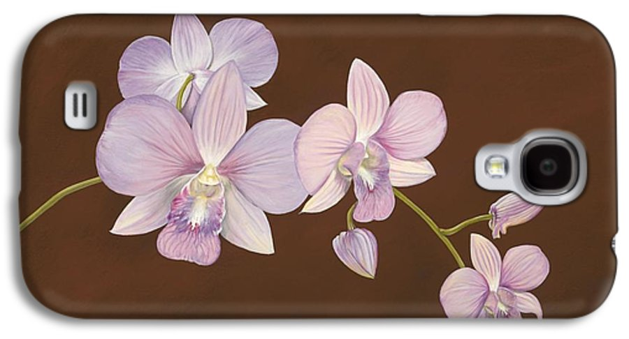 Orchid Galaxy S4 Case featuring the painting Pink Orchids by Shawn Stallings