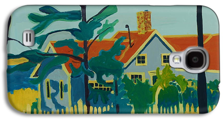Beach Galaxy S4 Case featuring the painting Pinkys House On Monhegan by Debra Bretton Robinson