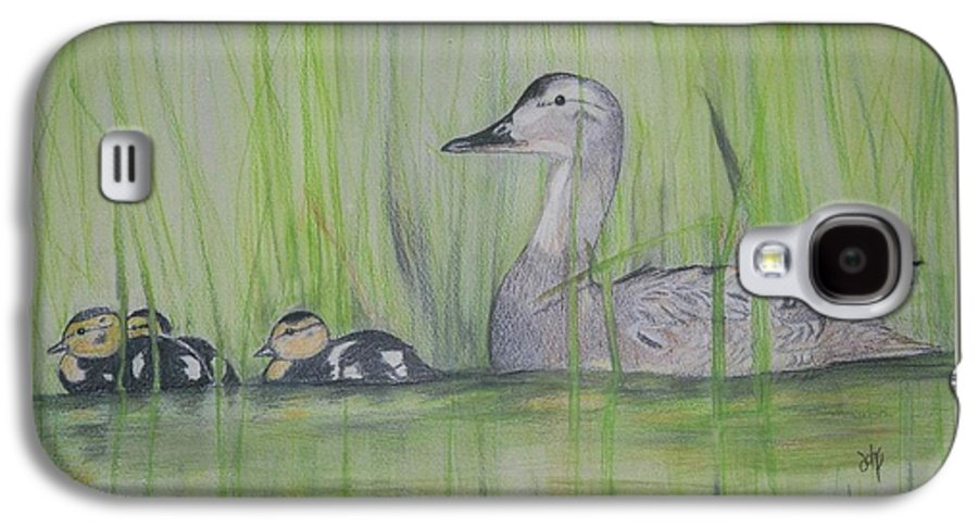 Pintail Ducks Galaxy S4 Case featuring the painting Pintails In The Reeds by Debra Sandstrom