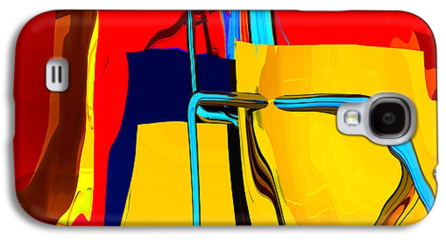 Abstract Galaxy S4 Case featuring the digital art Pipe Dream by Richard Rizzo