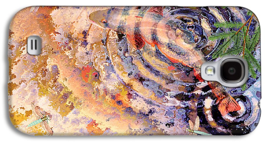 Pond Galaxy S4 Case featuring the painting Pisces by Peter J Sucy