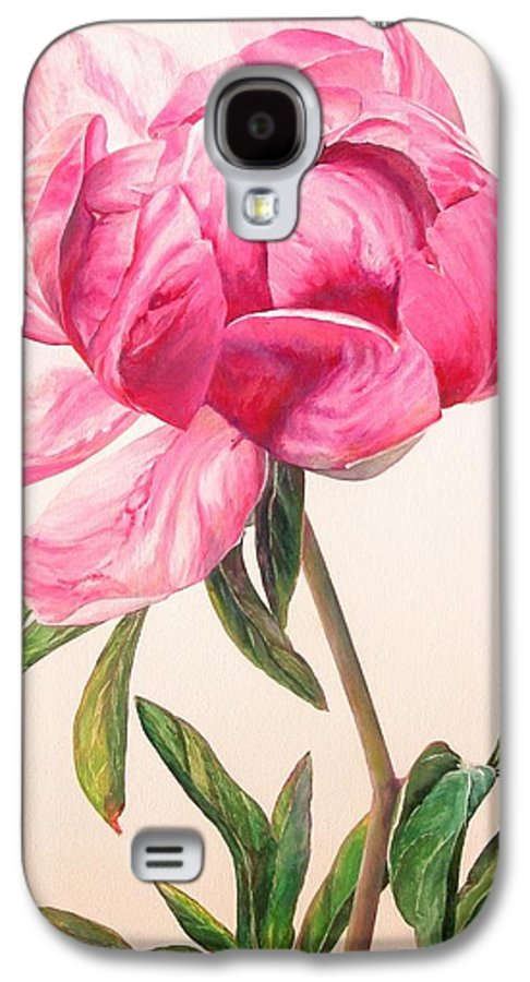 Floral Painting Galaxy S4 Case featuring the painting Pivoine 1 by Muriel Dolemieux