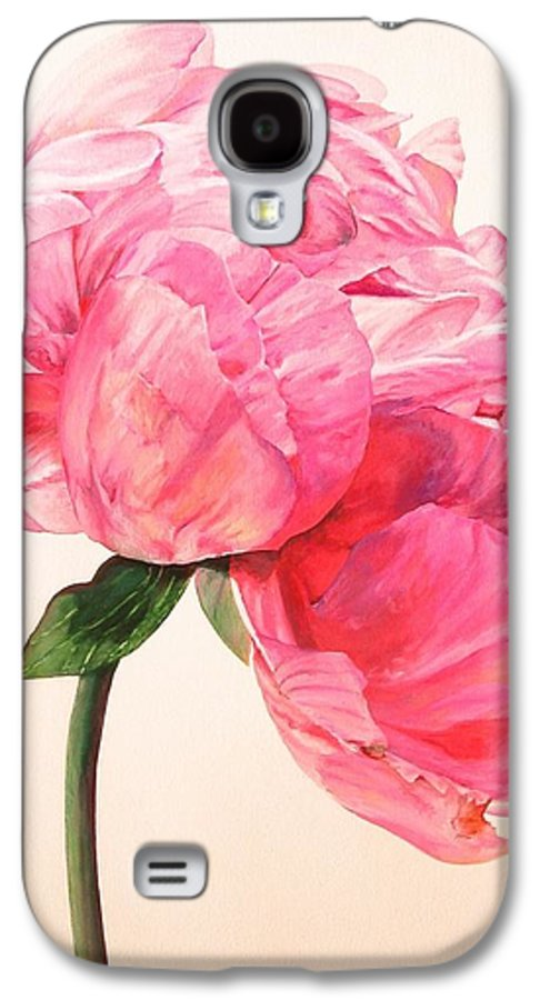 Floral Painting Galaxy S4 Case featuring the painting Pivoine 3 by Muriel Dolemieux