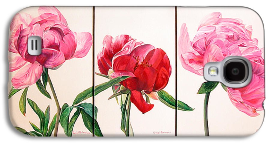 Floral Painting Galaxy S4 Case featuring the painting Pivoines by Muriel Dolemieux