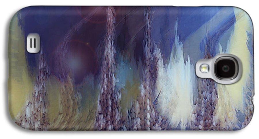 Abstract Galaxy S4 Case featuring the digital art Pixel Dream by Linda Sannuti