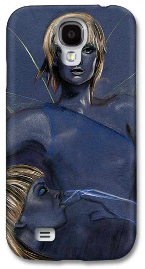 Pixie Galaxy S4 Case featuring the pastel Pixie by Maryn Crawford
