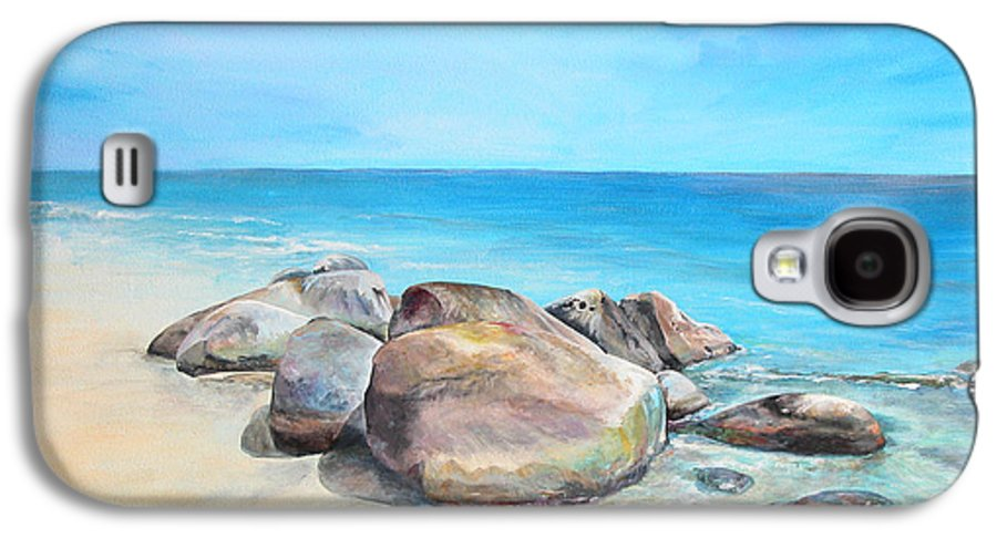 Paysage Galaxy S4 Case featuring the painting Plage by Muriel Dolemieux