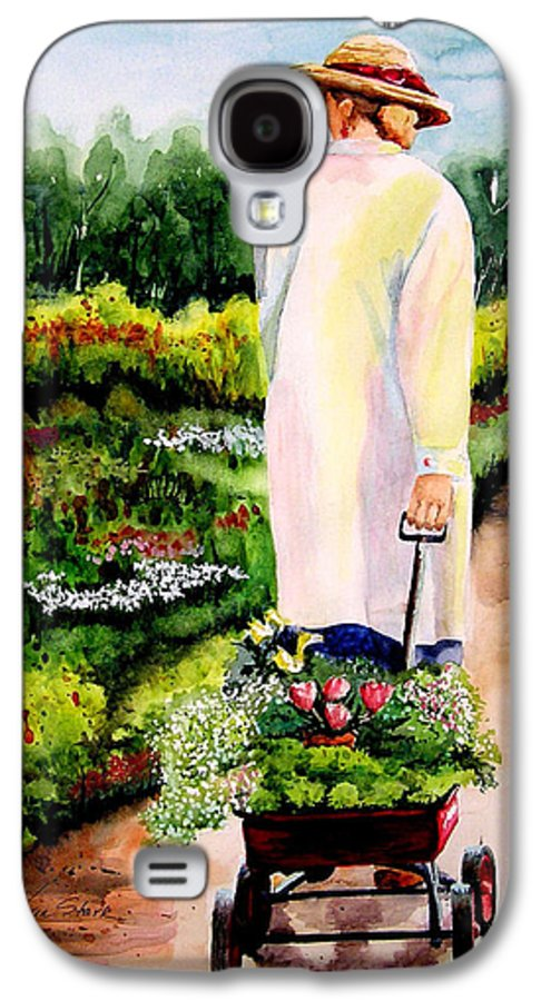 Garden Galaxy S4 Case featuring the painting Planting Plans by Karen Stark