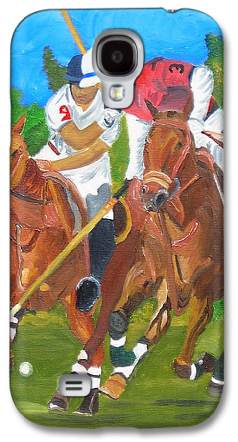 Polo Galaxy S4 Case featuring the painting Play In Motion by Michael Lee