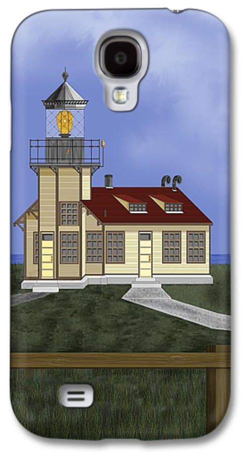 Lighthouse Galaxy S4 Case featuring the painting Point Cabrillo California by Anne Norskog