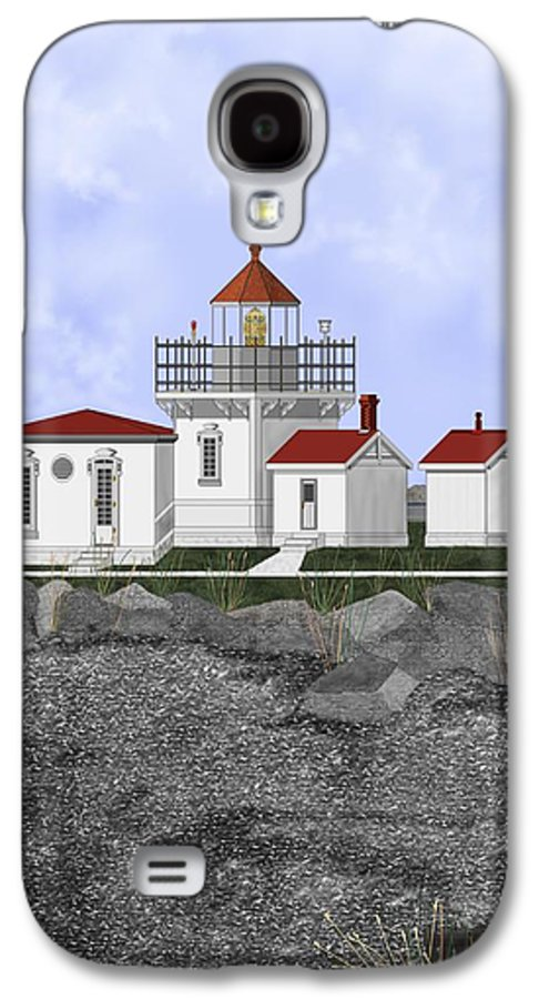 Lighthouse Galaxy S4 Case featuring the painting Point No Point Lighthouse by Anne Norskog