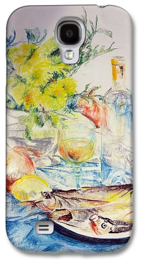 Still Life Galaxy S4 Case featuring the drawing Poissons by Muriel Dolemieux