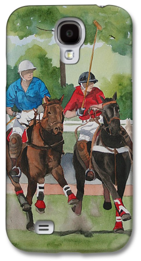 Polo Galaxy S4 Case featuring the painting Polo In The Afternoon 2 by Jean Blackmer