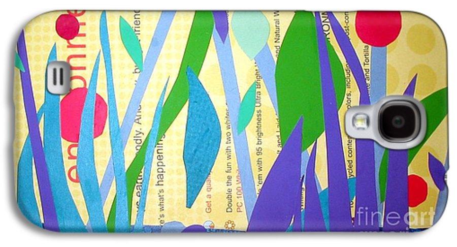Landscape Galaxy S4 Case featuring the mixed media Pond Life by Debra Bretton Robinson