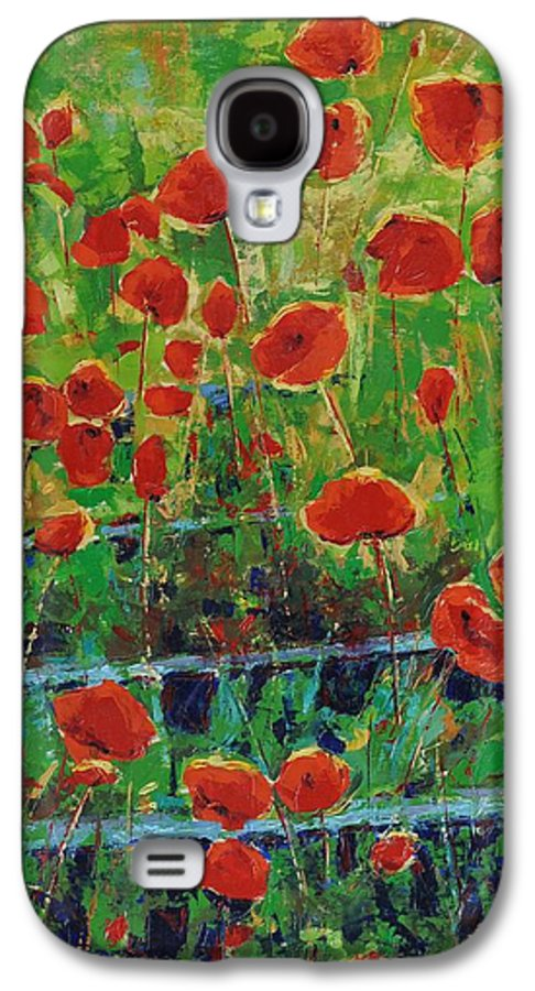 Poppies Galaxy S4 Case featuring the painting Poppies And Traverses 1 by Iliyan Bozhanov