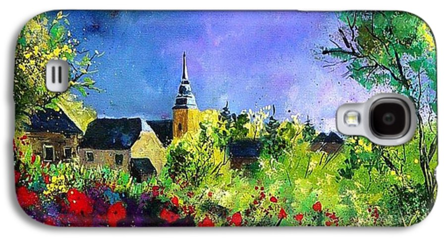 Flowers Galaxy S4 Case featuring the painting Poppies In Villers by Pol Ledent
