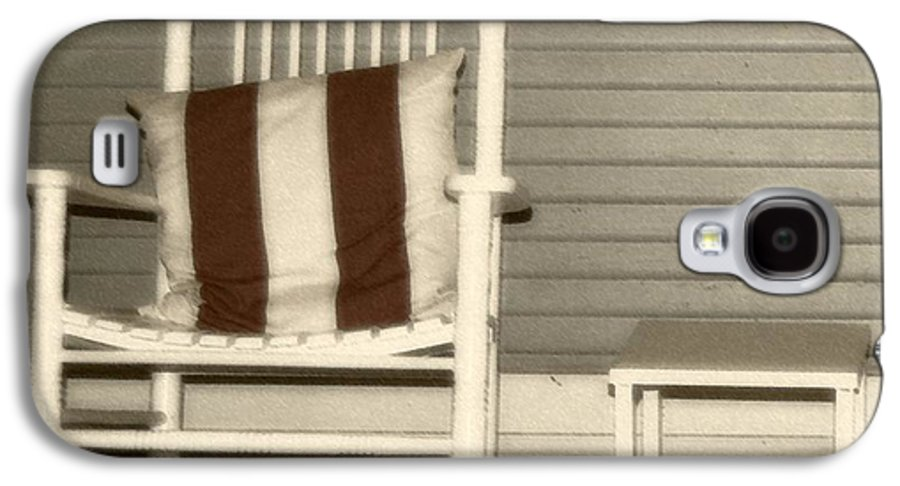 Rocking Chair Galaxy S4 Case featuring the photograph Porch Rocker by Debbi Granruth